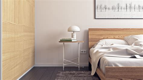minimalist bedside table 3 modern home interiors under 70 square metres 750 square