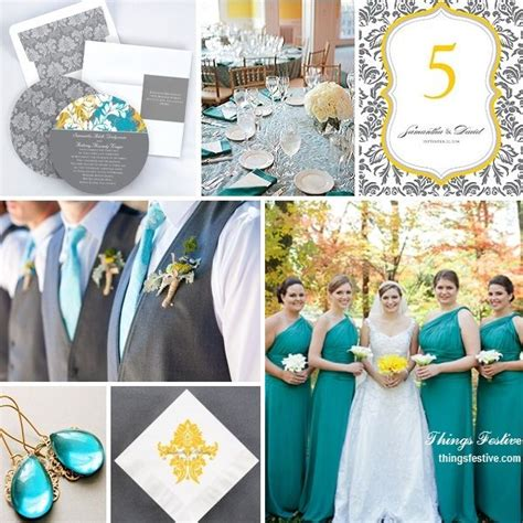 wedding colour schemes grey teal yellow gray wedding color story tealwedding