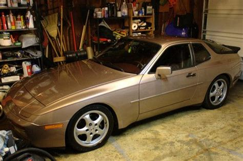 porsche 944 gold purchase used rare 1987 porsche 944 turbo 63k miles rose