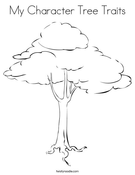 Character Tree Template my character tree traits coloring page twisty noodle
