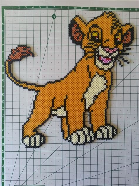 Hamac De Cing by Personajes 5 Perler Lions And