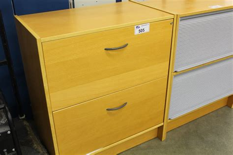 Maple 2 Drawer Lateral File Cabinet Able Auctions Maple Lateral File Cabinet