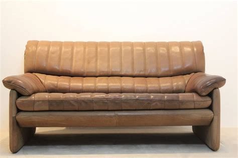thick leather sofa de sede ds 85 mid century two seat sofa in soft thick