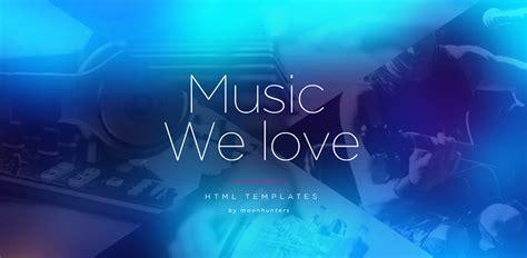 html themes music 19 music html5 website templates free premium themes