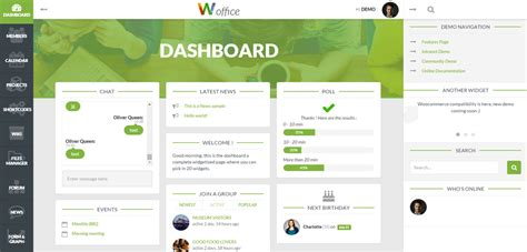 theme joomla intranet woffice premium responsive intranet extranet wordpress theme
