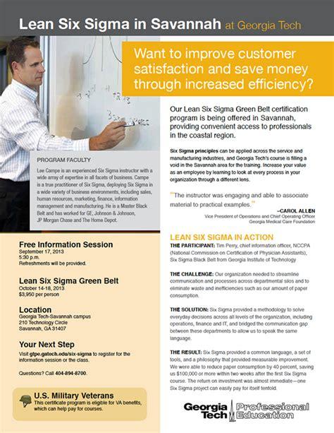 experiment design lean six sigma lean six sigma flyer on behance