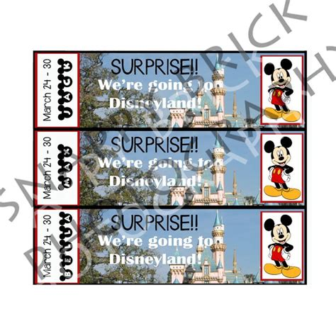 Printable Disneyland Tickets | printable ticket to disneyland disney world with custom