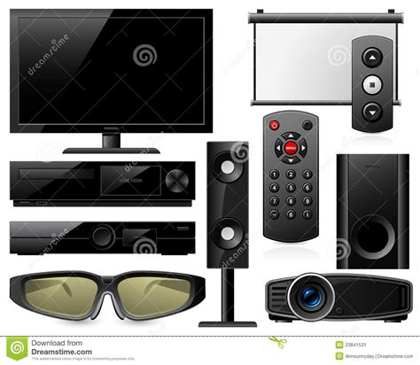 home theater equipment stock image image 23841531