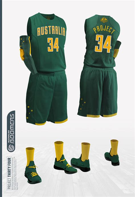 design basketball jersey australia australia boomers jersey concept on behance