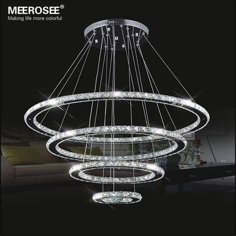 Decorative Pendant Light Fixtures Aliexpress Buy Mirror Stainless Steel Lighting Fixtures 4 Rings Led