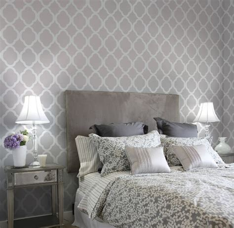 Bedroom Wall Stencils | home decor wall stencils contemporary bedroom new
