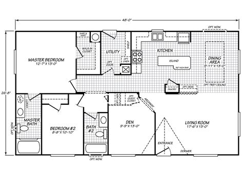 28x48 floor plans fleetwood waverly crest 28482l ziegler homes