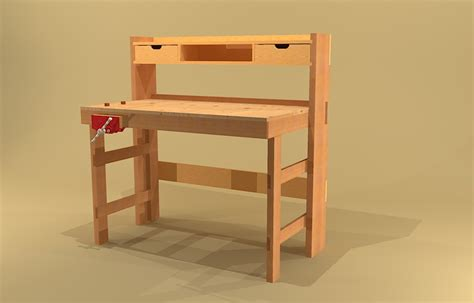 Garage Workbench Designs crafters folding workbench plans