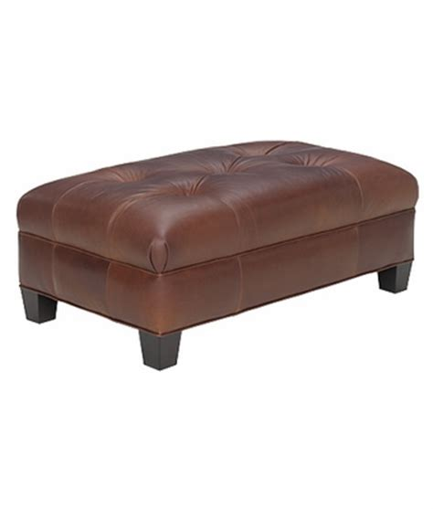 Tufted Upholstered Ottoman Coffee Table Leather Upholstered Button Tufted Ottoman Club Furniture
