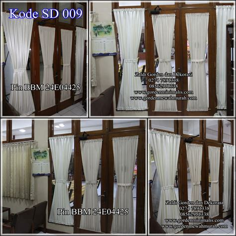 Kaki Stik Gorden Kupu Kupu gorden pita kain gorden tidak transparan model gorden