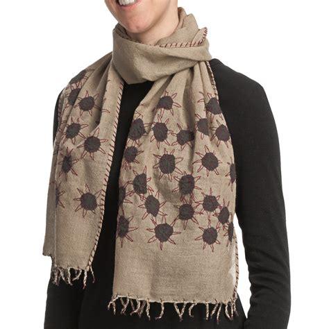 asian eye scarf lightweight wool for