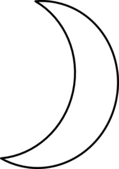 moon template early play templates crescent moon templates