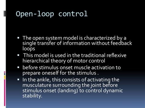 dynamic pattern theory motor control motor control in ankle instability