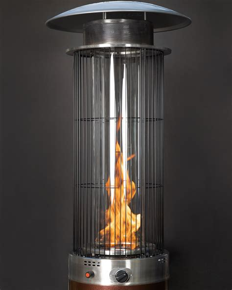 hammered bronze spiral flame patio heater costcocom