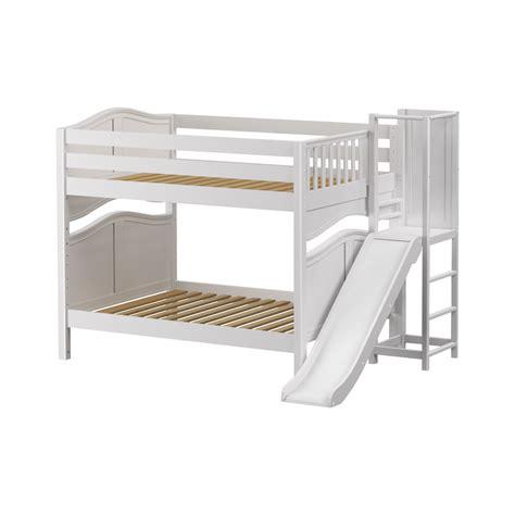 Maxtrixkids Domain Wc Medium Full Bunk Bed With Slide Bunk Bed Platform