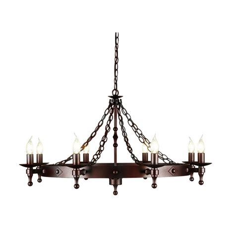 iron chandelier elstead lighting warwick 8 light iron chandelier at love4lighting