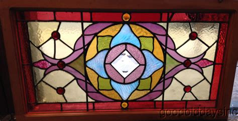 Small Stained Glass Ls by Small Antique Stained Leaded Glass Transom Window