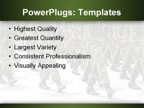 powerpoint template military parade background depicting