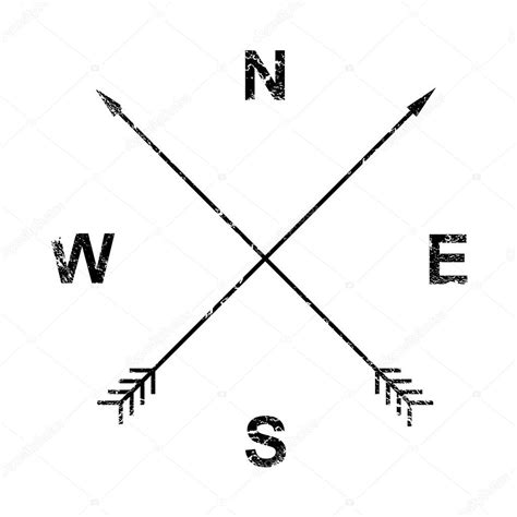 compass arrows grunge design stock vector 169 kovalto1