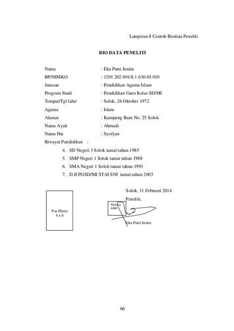 contoh biography ayah panduan skripsi pdf