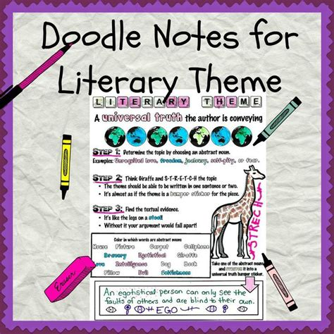 theme in literature notes 14 best images about doodle notes on pinterest memories