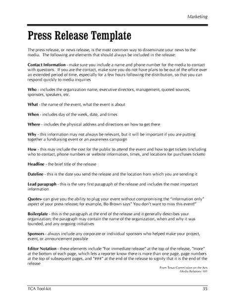 how to write a good press release template 46 press release format templates exles sles