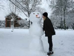 commercial woman hits snowman snowman kiss 4510 amy laughinghouse hits the road