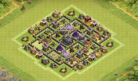 layout th7 home base 17 farming war base layouts th7 to th11 for august 2016