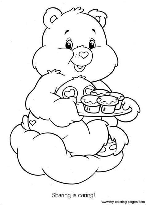 share bear coloring pages 38 best care bear share bear 4 images on pinterest