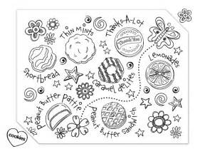 cookie coloring page scout cookie coloring page use to decorate a sales