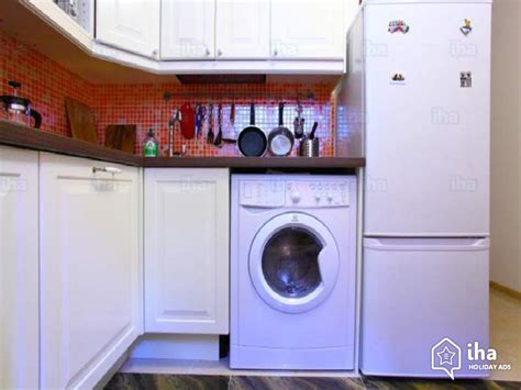 washing machine in bedroom apartment flat for rent in moscow iha 33565