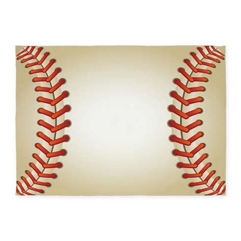 baseball 5 x7 area rug by decorativedesigns