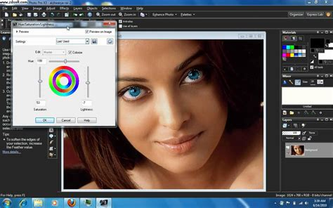 how to change eye color in corel paintshop pro