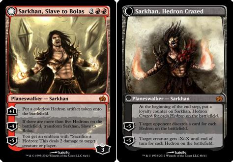 arena of the planeswalkers card templates mse dfc planeswalkers updated modern magic set editor