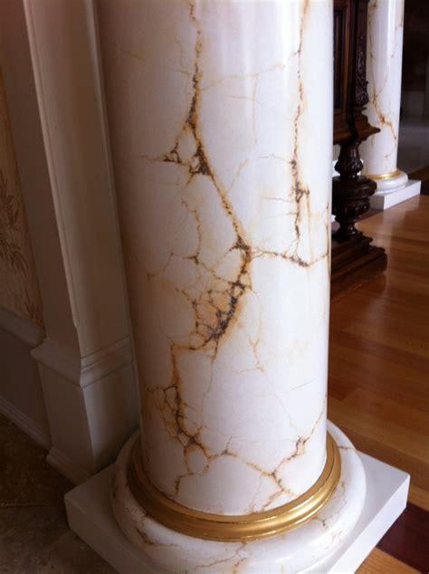 how to paint faux marble columns faux painted marble 187 mjp studios