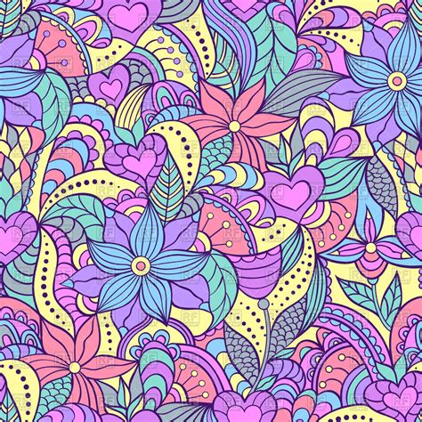 seamless floral pattern background vector graphic seamless pattern with abstract flowers motley floral