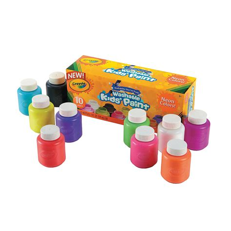 10 color crayola 174 neon colors washable paint trading