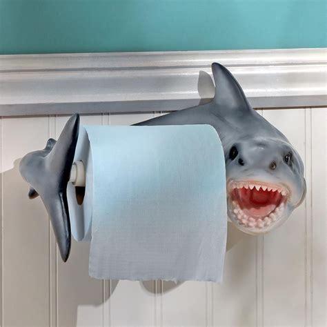toilet paper backwards shark attack bathroom toilet paper holder dares you to put