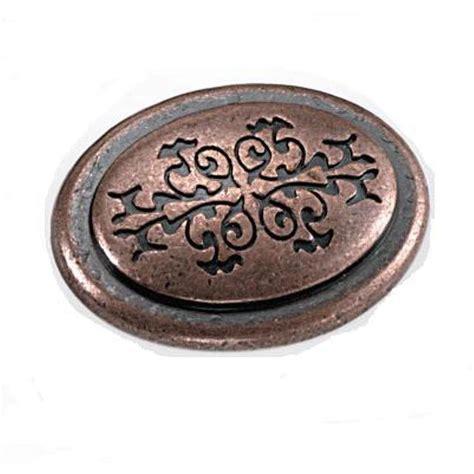 laurey cimarron 1 3 8 in antique copper oval cabinet knob