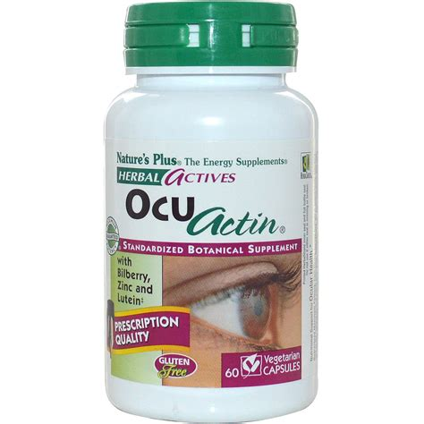 Natures Plus Ocu Actin E887450 60 nature s plus herbal actives ocu actin 60 veggie caps