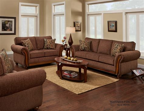 And Loveseat by Delray Fudge Sofa And Loveseat Fabric Living Room Sets