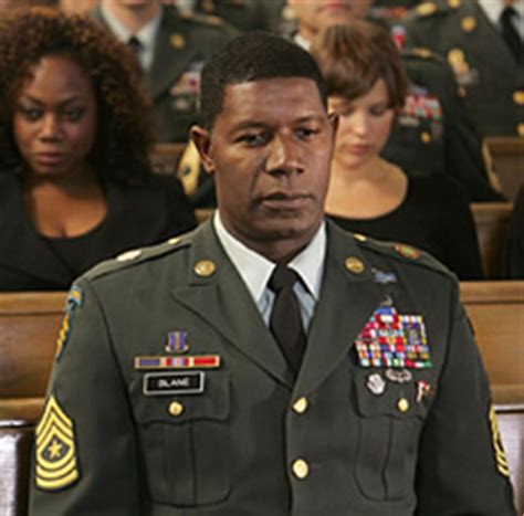 was dennis haysbert in the military the unit cancelled