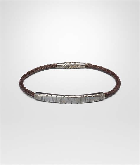 Bottega Bracelet bottega veneta ebano intrecciato oxidized silver nappa bracelet in silver for ebano lyst