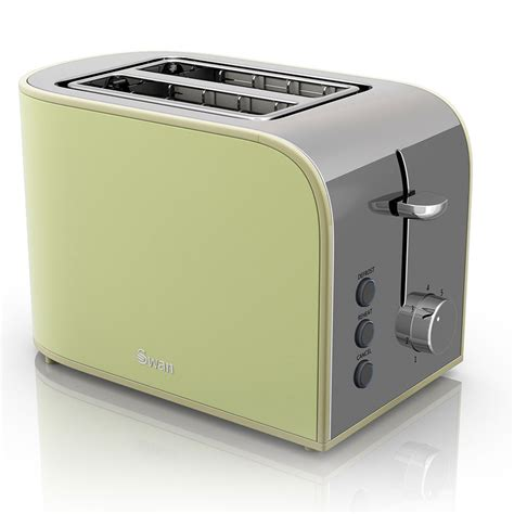 Swan Toaster Swan Retro 2 Slice Toaster Green