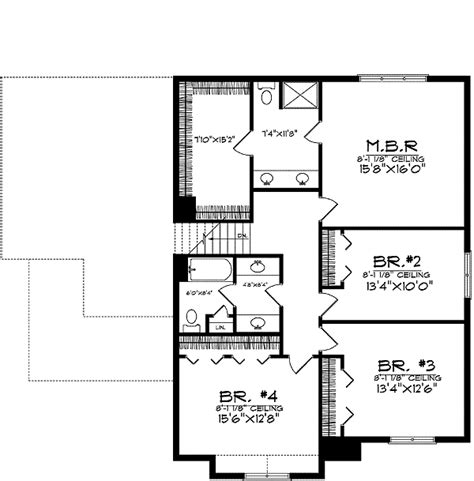 beautiful home plan that is space efficient 8966ah 2nd